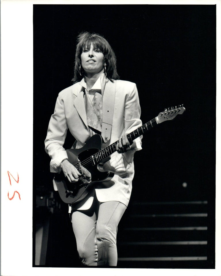 Neal Preston Black and White Photograph - Chrissie Hynde of The Pretenders Performing Vintage Original Photograph