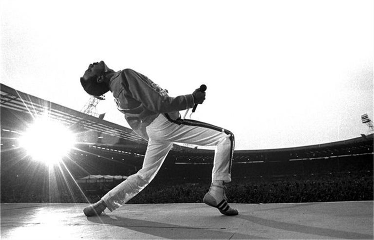 <i>Freddie Mercury at Wembley</i>, 1986, by Neal Preston, offered by Heart of Gold Gallery