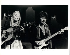 Joni Mitchell and Robbie Robertson Vintage Original Photograph