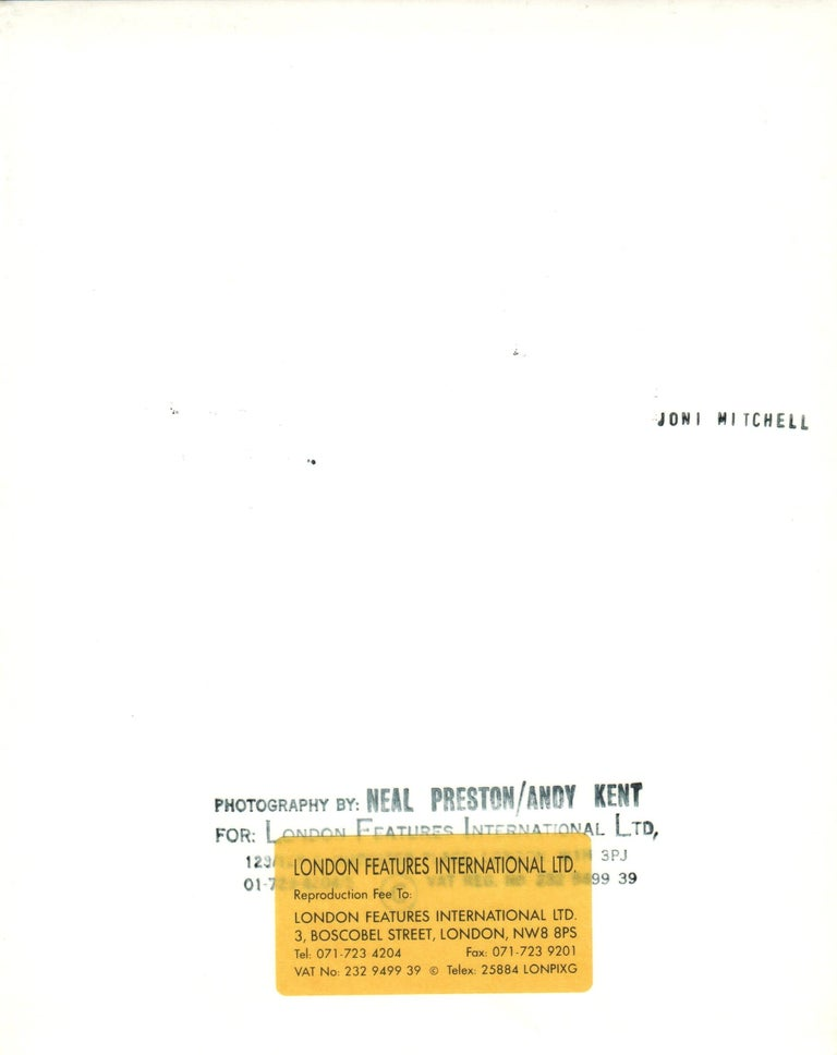 Joni Mitchell Striking Profile Portrait Vintage Original Photograph - Black Black and White Photograph by Neal Preston