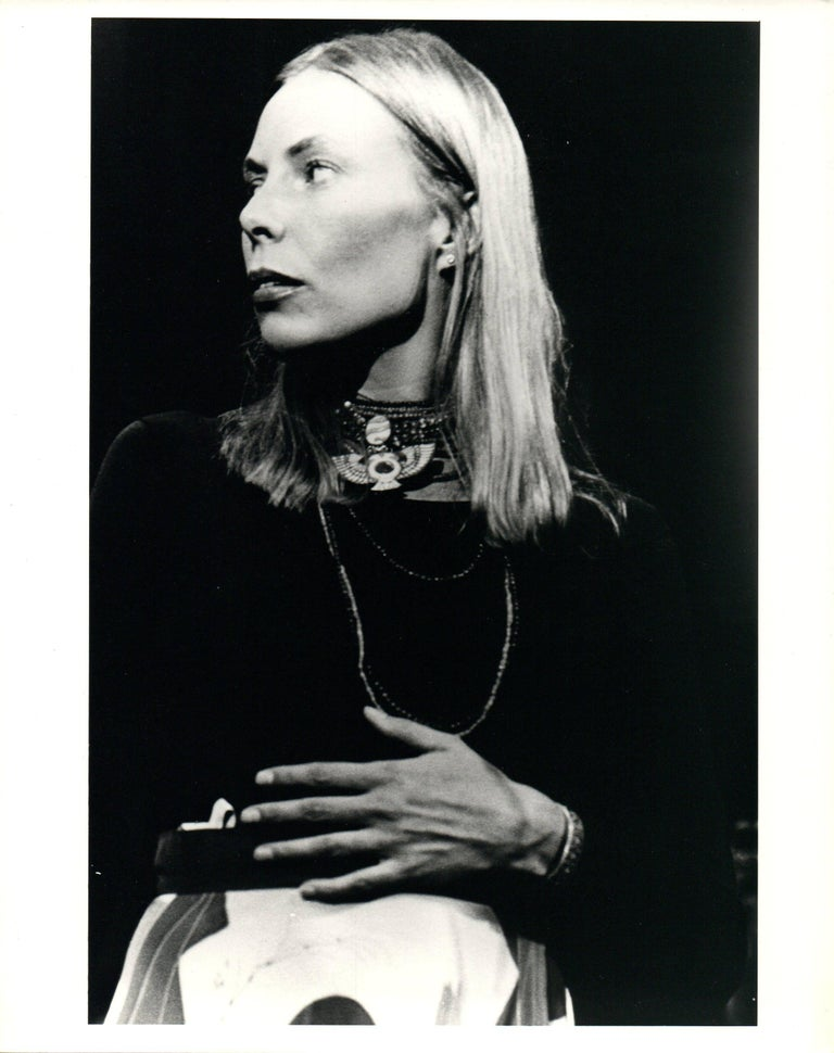 Joni Mitchell Striking Profile Portrait Vintage Original Photograph