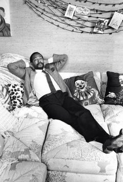 Marvin Gaye Candid and Reclining Vintage Original Photograph
