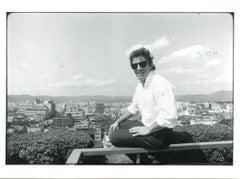 Portrait of Bruce Springsteen by Neal Preston - Vintage B/w Photo - 1985