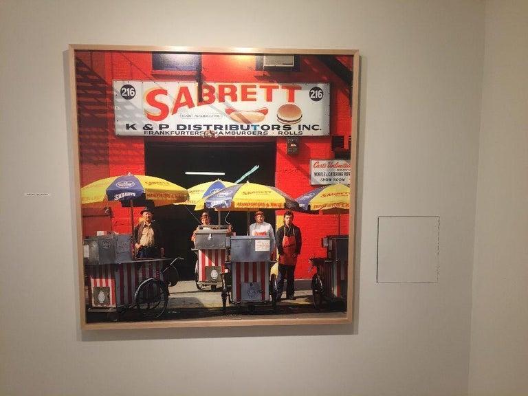 Sabrett Hot Dog Vendors, New York City - Photograph by Neal Slavin