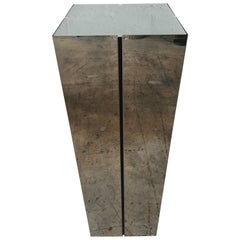 Neal Small Illuminated Steel and Glass Pedestal Stand or Lamp