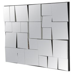 Neal Small Mirror, Sloped Faceted
