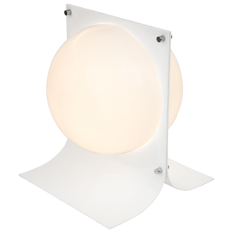 Neal Small Plastic and Chrome Area Lamp, USA 1966