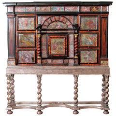 Neapolitan Baroque Cabinet of Curiosities / Tortoise and Ebony with Egliomise