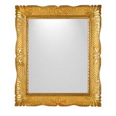 Neapolitan Guantiera Golden Frame Mirror