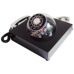 Near Mint American Space Age Rotary Dial, Teledome Desk Phone by TeleConcepts