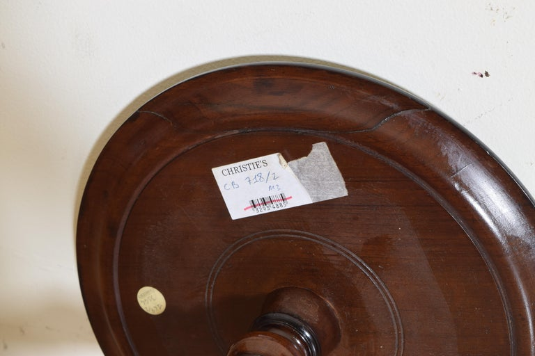 Near Pair of Italian, Lombardia, Turned Walnut Ebonized Torcheres/Pedestals For Sale 6