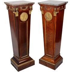 Near Pair of 19th Century Classical Pedestals