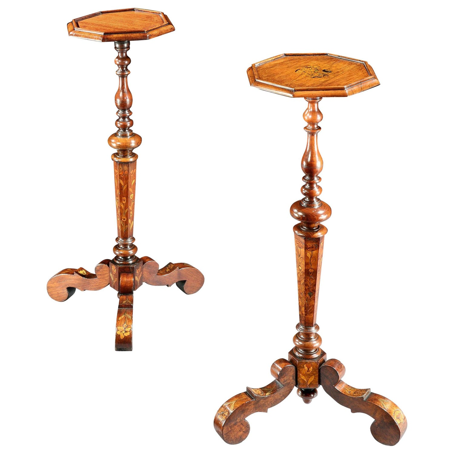 Near Pair of Candle Stands or Torchères, Late 17th Century, English