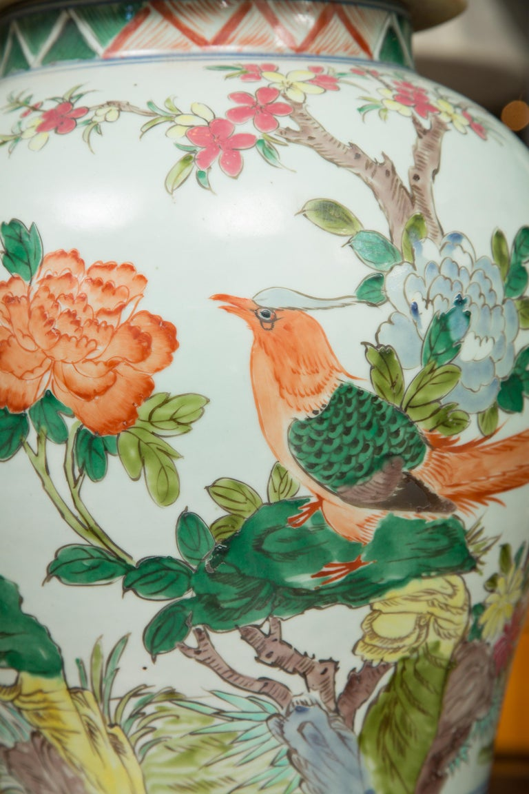 Near Pair of Chinese Lidded Urns For Sale 3