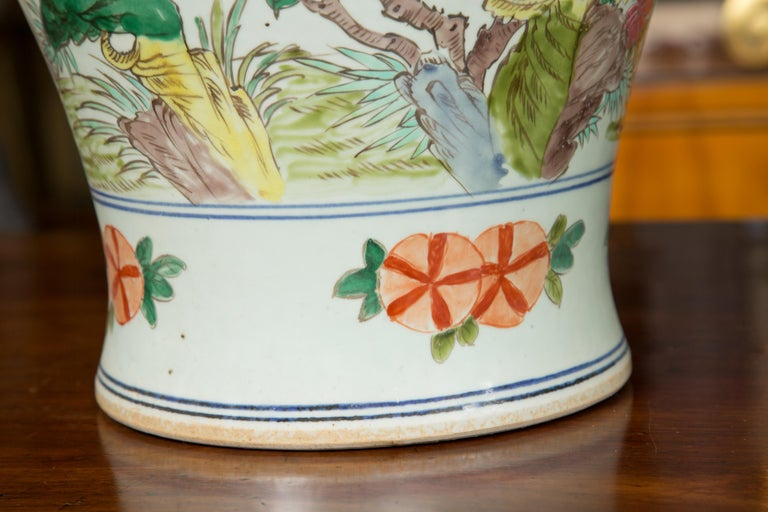 Near Pair of Chinese Lidded Urns For Sale 1