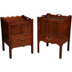 Near Pair of George III Bedside Commodes