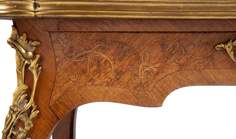 Near Pair of Linke Influenced Louis XVI Style Side Tables, Late 19th Century For Sale 4