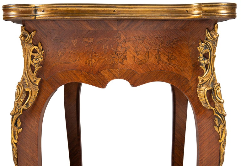 Near Pair of Linke Influenced Louis XVI Style Side Tables, Late 19th Century For Sale 6