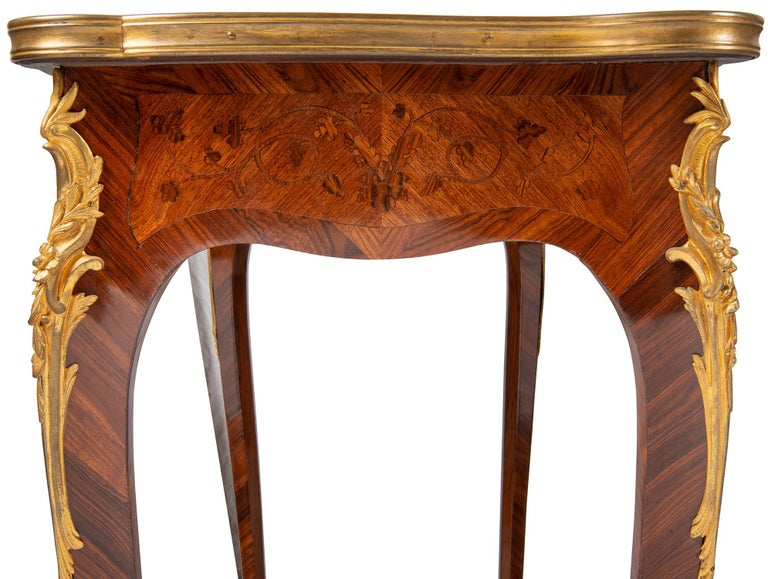 Near Pair of Linke Influenced Louis XVI Style Side Tables, Late 19th Century For Sale 7