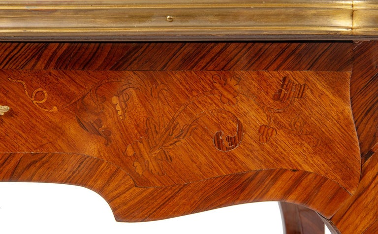 Near Pair of Linke Influenced Louis XVI Style Side Tables, Late 19th Century For Sale 1