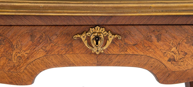 Near Pair of Linke Influenced Louis XVI Style Side Tables, Late 19th Century For Sale 3