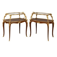 Near Pair of Louis XV Style Étagère Tables by François Linke. French, circa 1900