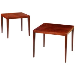 Near Pair of Square Occasional Tables Attributed to Severin Hansen