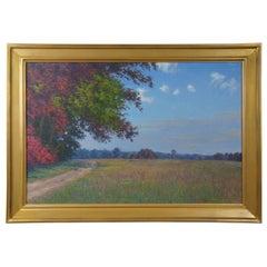Nearing Bungletown II Durwood Dommisse Landscape Oil on Canvas Painting