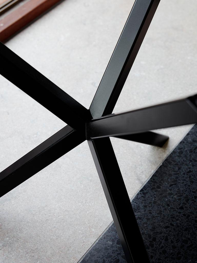 Powder-Coated Scandinavian Contemporary Dining Table in Italian Granite made in Sweden For Sale