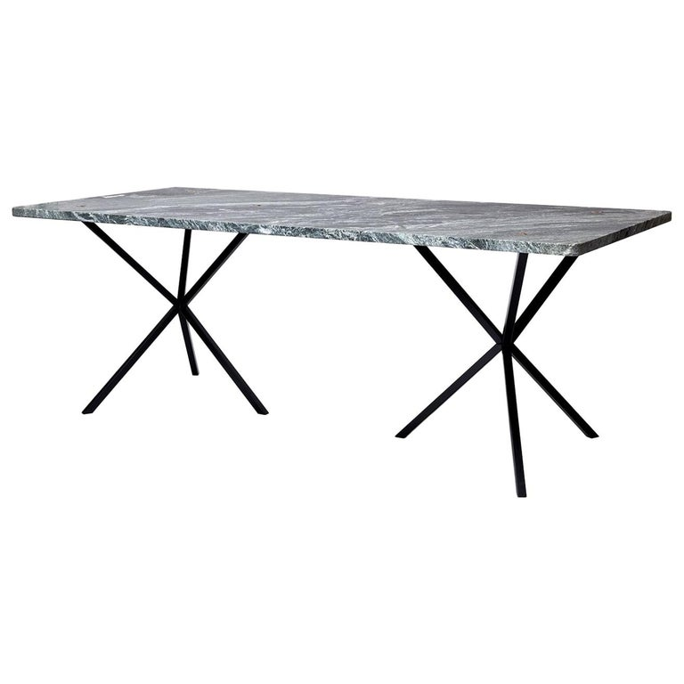 Scandinavian Contemporary Dining Table in Italian Granite made in Sweden For Sale
