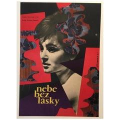 """Nebe Bez Lasky"" Film Poster 1961 Original Vintage Poster"