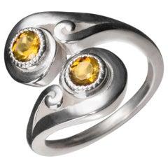Nebula Crossover Sterling Silver Ring