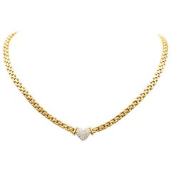 Necklace 18 Carat Yellow Gold and 18 Carat White Gold Diamonds