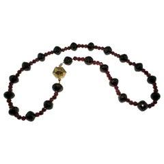 Necklace, Antique, Garnet, Gold