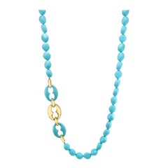 Necklace Composite Turquoise and 18 Karat Gold