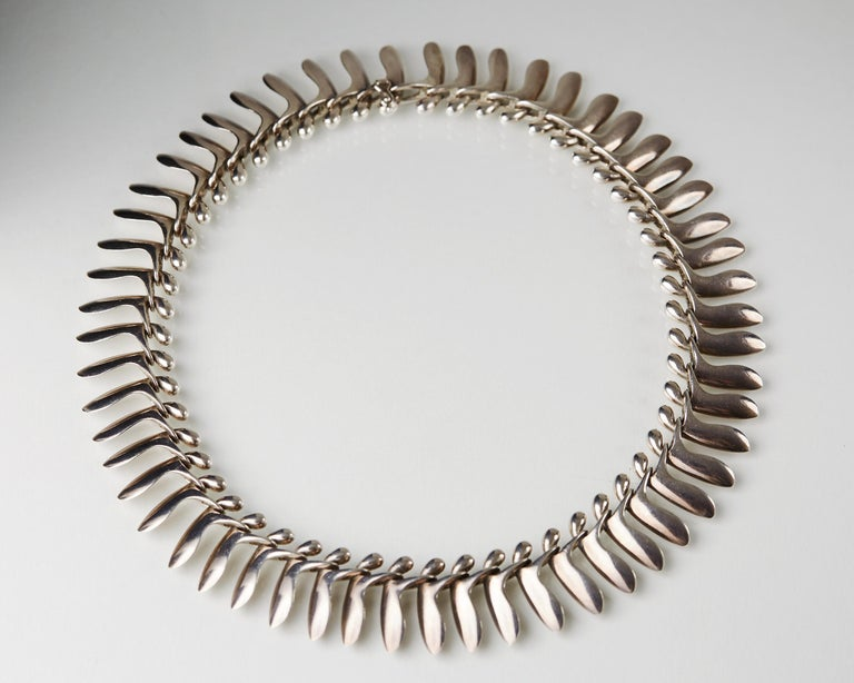 Women's or Men's Necklace Designed by Bent Gabrielsen for Georg Jensen, Denmark, 1960s For Sale