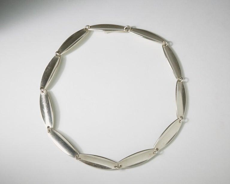 Sterling silver.  D: 40 cm/ 15 3/4''