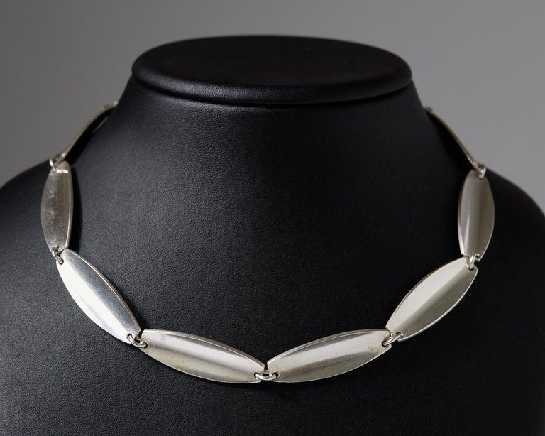 Women's or Men's Necklace Designed by Bent Knudsen, Denmark, 1960s For Sale