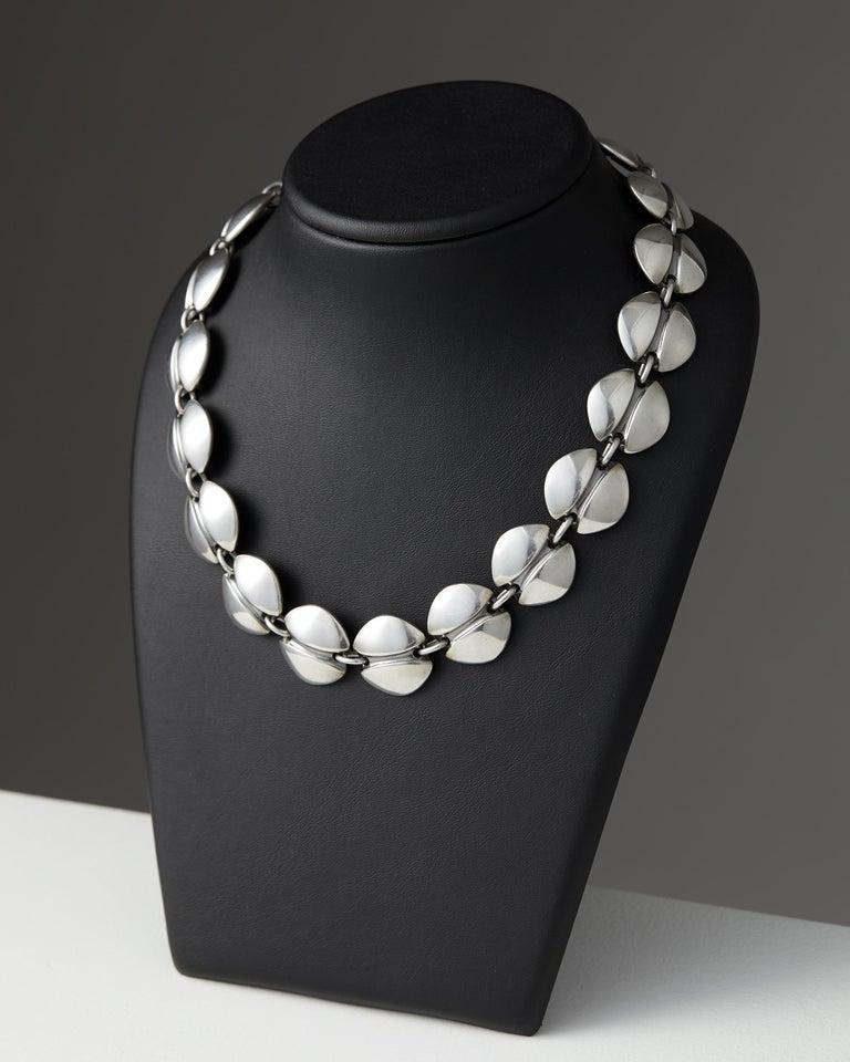 Modern Necklace Designed by Henning Koppel for Georg Jensen, Denmark, 1940s For Sale