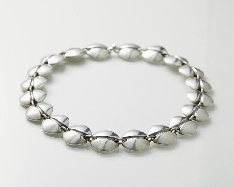 Women's or Men's Necklace Designed by Henning Koppel for Georg Jensen, Denmark, 1940s For Sale