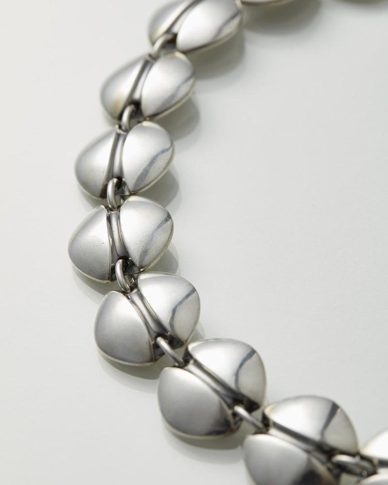 Necklace Designed by Henning Koppel for Georg Jensen, Denmark, 1940s For Sale 1