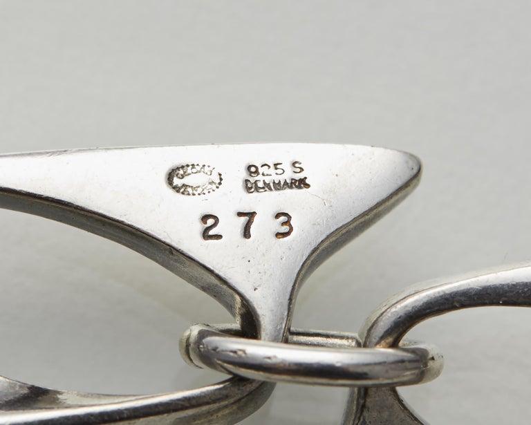 Necklace Designed by Henning Koppel for Georg Jensen, Denmark, 1940s For Sale 2