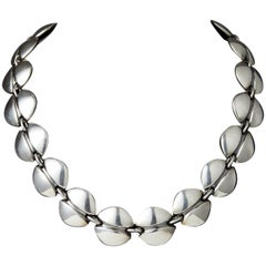 Necklace Designed by Henning Koppel for Georg Jensen, Denmark, 1940s