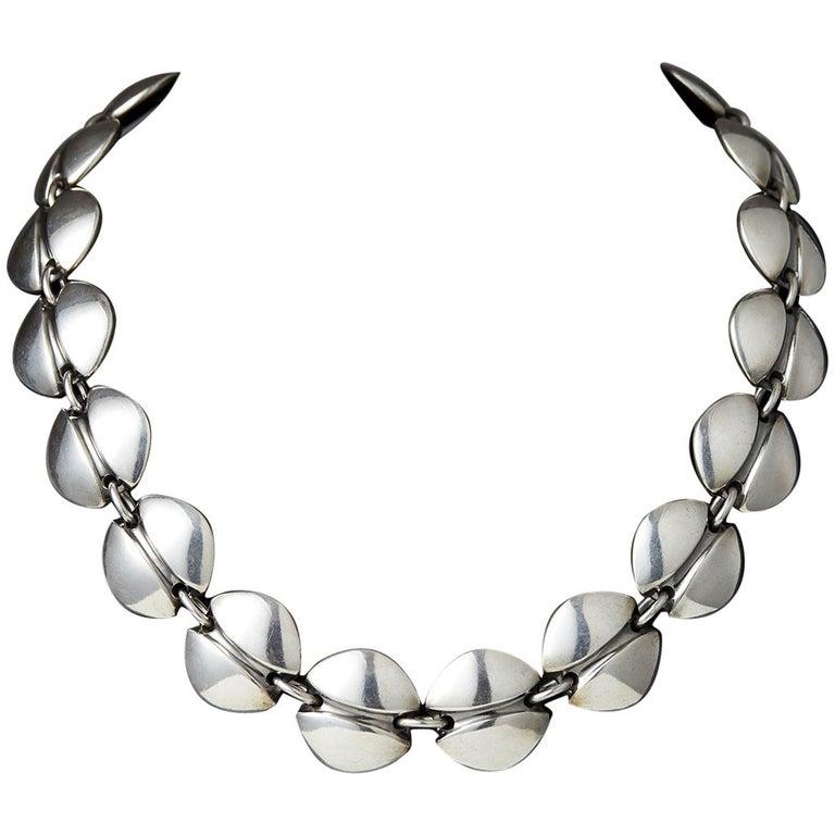 Necklace Designed by Henning Koppel for Georg Jensen, Denmark, 1940s For Sale