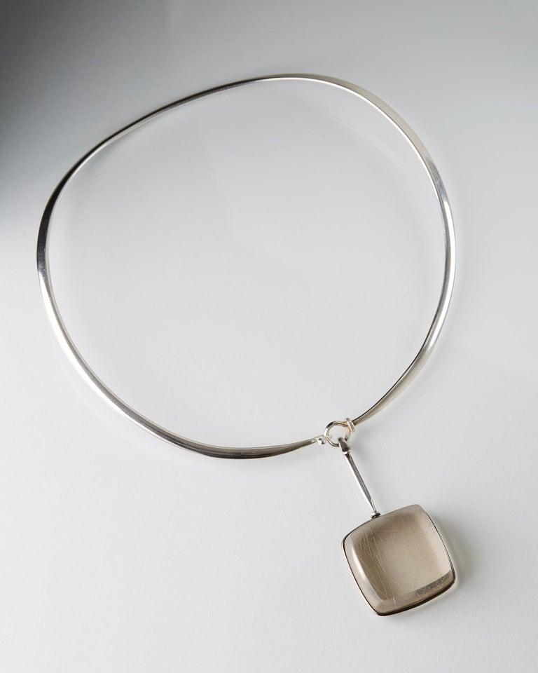 Modern Necklace Designed by Torun Bülow-Hübe for Georg Jensen, Denmark, 1960s For Sale