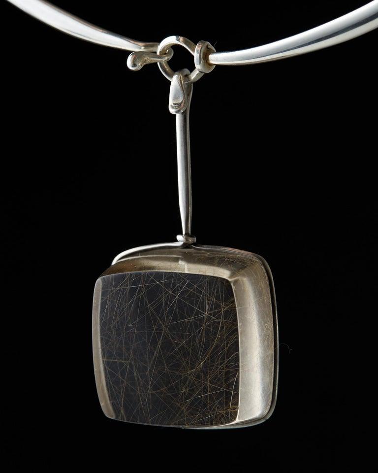 Necklace Designed by Torun Bülow-Hübe for Georg Jensen, Denmark, 1960s In Good Condition For Sale In Stockholm, GB