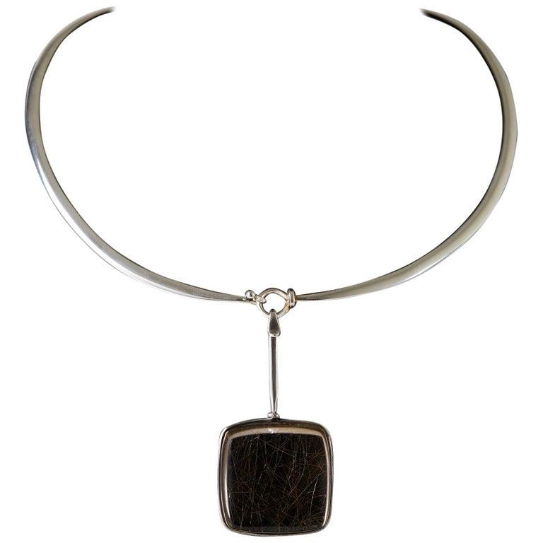 Necklace Designed by Torun Bülow-Hübe for Georg Jensen, Denmark, 1960s For Sale