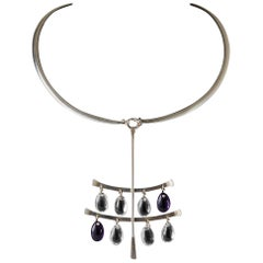 Necklace 'Drops' Designed by Torun Bülow-Hübe for Georg Jensen, Denmark, 1960s