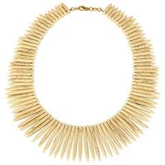 Necklace Druzy 9 Karat Gold Avoriolina