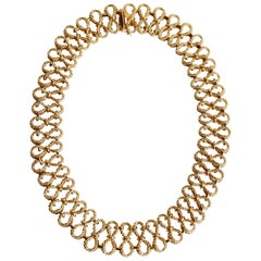 Necklace in 18 Carat Yellow Gold, Hinged Eight-Link